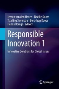 Book Cover: Responsible Innovation 1: Innovative Solutions for Global Issues (2014)